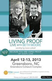 Beth Moore is coming to Greensboro April 12-13, 2013!