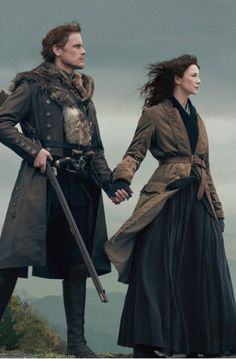 Jamie and Claire from the Outlander TV series Outlander Season 4, Outlander Quotes, Outlander Casting, Outlander Tv Series, The Outlander, Outlander Wedding, Outlander Funny, Starz Series, Diana Gabaldon Outlander