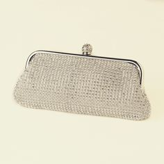 """""""The Tierney"""" Silver Clear Crystal Evening Bag"""