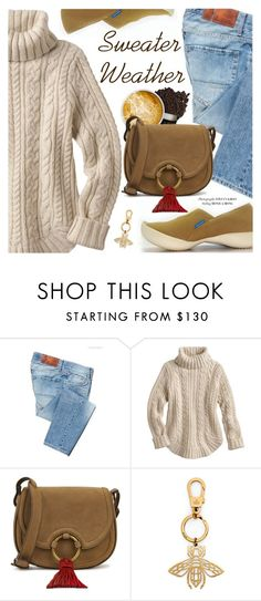 """""""Sweater Weather"""" by regettacanoe ❤ liked on Polyvore featuring Two Women in the World, Tory Burch, Gucci, polyvoreeditorial, wintersweater and polyvoreset"""