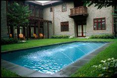 Contemporary garden patio living home decor gardens plants flowers diy outdoor house modern inspiration pool fountain