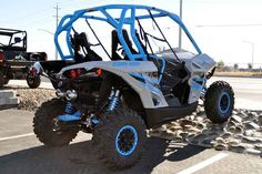 New 2016 Can-Am Maverick X xc 1000R Light Grey & Octane ATVs For Sale in California. 2016 Can-Am Maverick X xc 1000R Light Grey & Octane Blue, 2016 Can-Am® Maverick X xc 1000R Light Grey & Octane Blue DOMINATE TIGHT TERRAIN WITH A NARROWER 60 PROFILE. The Maverick X xc is the perfect model for trail riding enthusiast. With best-in-class power, beadlock wheels, premium analog/digital gauge and unique styling, it truly gives you the competitive edge on tight trails. Features may include…