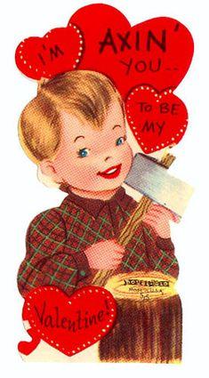 weird vintage valentines day cards
