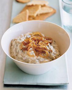 Eggplant-Yogurt Dip (plus a pinch of cumin - perfect for dipping with bell peppers)