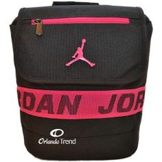 Nike Air Jordan Backpack Black Pink Toddler Preschool School Book Girl Small Bag #OrlandoTrend #Nike #Jordan #Backpack #Pink
