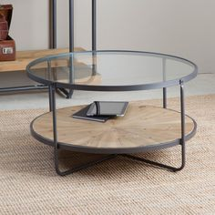 table ronde en verre table basse