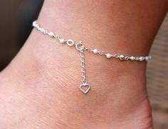 Sterling Silver Anklet Sweet Water Pearls Anklet by Alyssasdreams