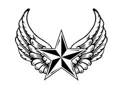 Star with Wings Tattoo Designs için resim sonucu Crown Tattoo Design, Wing Tattoo Designs, Tattoo Design Drawings, Tattoo Sleeve Designs, Tattoo Sketches, Star Tattoos For Men, Half Sleeve Tattoos For Guys, Cool Tattoos, Nautical Star Tattoos