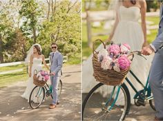 don't you just love a bike at a wedding?