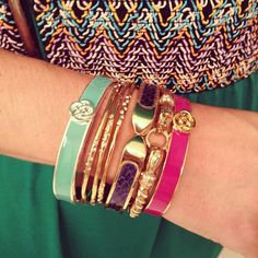Colorful! Arm candy by Stella & Dot.