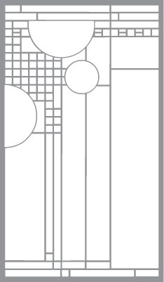 Grid Design with Circles and Squares | Pre-Cut Patterns