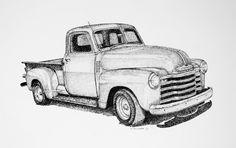 pickup truck sketch | Gallery :: Auto Art :: chevy_truck