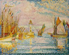 Lighthouse at Groix Paul Signac (French, Paris Paris) Date: Paul Victor Jules Signac was a French neo-impressionist painter who, working with Georges Seurat, helped develop the pointillist style. Georges Seurat, Claude Monet, Paul Signac, Ouvrages D'art, Oil Painting Reproductions, Art Moderne, Art Plastique, Metropolitan Museum, Creative Art