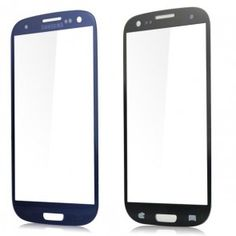 Front Screen Glass Lens Replacement for Samsung Galaxy S3 i9300 - Dark Blue 1