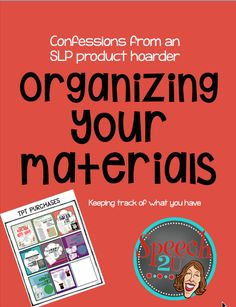 Organizing TpT materials