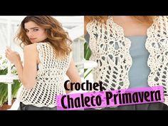 Chaleco Sweater Mujer Tejido a Crochet ( Diseños Primavera Verano ) - YouTube