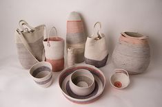 Look at these gorgeous vessels by New York based artist Doug Johnston! For this collection Johnston utilize an old crafting technique in which rope or cord is coiled and stitched to forms bowls and...