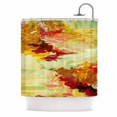 "Ebi Emporium ""On Cloud Nine - 5"" Yellow Brown Shower Curtain"