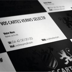 PACK 1000 Cartes Vernis sélectif: imprimées sur un papier mat 350 gr haut de gamme et ensuite pelliculées mat recouvert par le vernis brillant sur les zones sélectionnées. Ces cartes de visite conviennent parfaitement à tous ceux ou toute entreprise souhaitant communiquer sur un secteur cartes de visites haut de gamme de luxe.