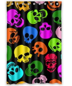 New Hot Sale Custom Colorful Skulls Fashion Home Living Waterproof Bathroom Decor Shower Curtain 120x183cm FREE SHIPPING U07-45