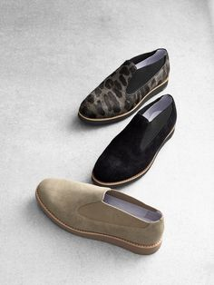 Neutral Necessities: Black, beige and even a hint of print. Subtle, sporty (and comfortable) flats pair well with any on-the-go outfit. - Em
