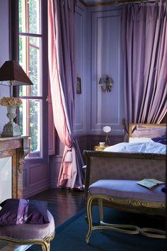 Chateau de la Verrerie | Purple | Lilac | Home Decor Inspiration