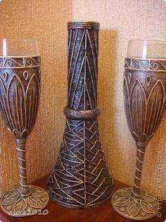 Декор предметов Аппликация из скрученных жгутиков Краска Салфетки фото 1