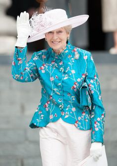 Princess Alexandra leaves St. Paul's Cathedral folllowing a sService  of Thanksgiving marking the Diamond Jubilee, London, 4 June 2012.© Press Association