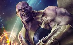 Download wallpapers Thanos, art, 2018 movie, superheroes, Avengers Infinity War