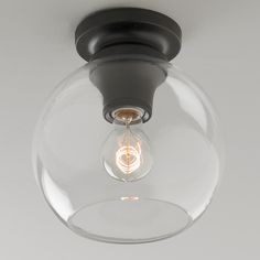 Modern Update Globe Ceiling Light Product SKU: FM14107 BZ  Price:  $109.00 from shadesoflight.com