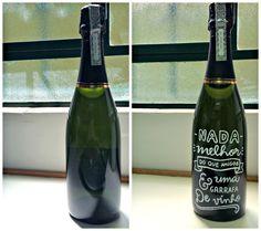 DIY: Caligrafia na garrafa