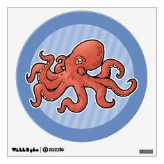 Purchase yourself a bunch of Octopus wall decals from Zazzle! Our wall stickers are great for any room in your home or office! Wall Stickers, Wall Decals, Giant Pacific Octopus, Animal Room, Room Decor, Animals, Wall Clings, Animales, Pet Store