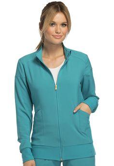 dc82b4e0439 Cherokee Zip Front Warm-Up Jacket - The Uniform Outlet - Women's Scrubs