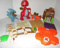 Little Tykes Builders Dinosaur Playset Pieces Cave Men 35 Pieces | eBay