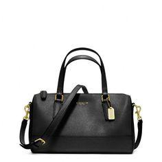Coach Saffiano Leather Mini Satchel ($228) ❤ liked on Polyvore