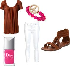 """""""Brown and Pink!"""" by begirl2799 on Polyvore"""