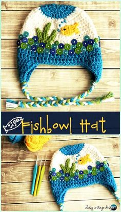 Crochet Fishbowl Hat Free Pattern Instructions-DIY Crochet Ear Flap Hat Free Patterns