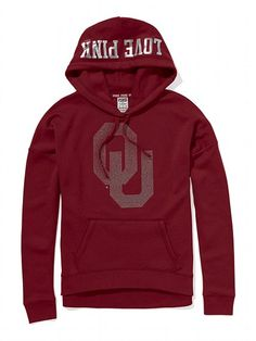 Victoria's Secret PINK University of Oklahoma Slouchy Bling Hoodie #VictoriasSecret http://www.victoriassecret.com/pink/university-of-oklahoma/university-of-oklahoma-slouchy-bling-hoodie-victorias-secret-pink?ProductID=82671=OLS?cm_mmc=pinterest-_-product-_-x-_-x