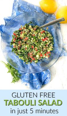 This low carb cauliflower tabouli is a great gluten free alternative to traditional tabouli. Full of herbs like parsley and mint with a light and refreshing lemony dressing. This chopped salad is a quick and delicious for summer and has only 4.2g net carbs. #tabouli #tabbouli #parsleysalad #choppedsalad #lowcarb #keto #glutenfree #cauliflowerrice Low Carb Appetizers, Appetizers For Party, Best Salad Recipes, Keto Recipes, Classic Potato Salad, Green Beans With Bacon, Cauliflower Salad, Creamy Pasta, Chopped Salad