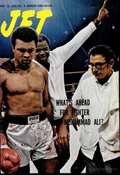 A cover gallery for Jet Jet Magazine, Black Magazine, Muhammad Ali Boxing, Essence Magazine, Vintage Black Glamour, Black History Facts, Boxing Training, Black Celebrities, Black Pride