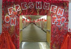 each class gets one wall- homecoming hallway decorations | Freshman Hall Decorations