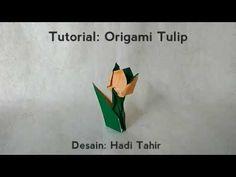Cara membuat origami kapal selam how to make origami submarine 70 tutorial origami tulip 1 lembar dengan batang daun ccuart Gallery