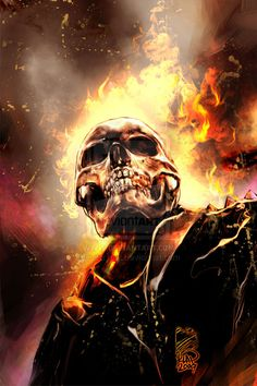 Ghost Rider Grin by *scarypet on deviantART