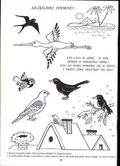 Autumn Crafts, Preschool Worksheets, Stories For Kids, Winter Theme, Techno, Projects To Try, Birds, Activities, Animals