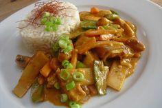 Thai Curry Erdnuss - Kokos - Hühnchen, ein tolles Rezept aus der Kategorie Geflügel. Bewertungen: 269. Durchschnitt: Ø 4,7.