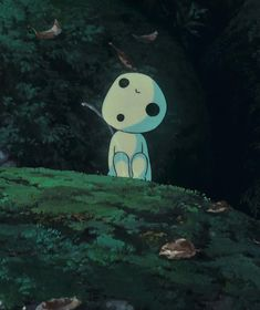 Kodama (tree spirit). These little guys are so odd, but I love them still.