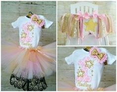 Twinkle Little Star 1st Birthday Tutu Outfit by GigglesandWiggles1