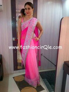 kareena in manish malhotra saree for heroine promotionss