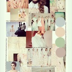 Fashion Moodboard - warm, elegant pastels inspiration - chic peach, cream, mint
