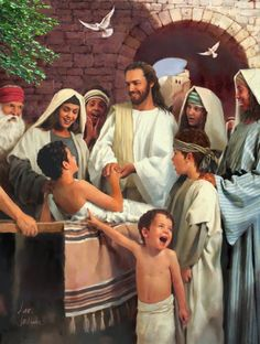 Look at the face of the young one in front. I love it! Great pic. ......... He resurrected the dead...even the young..♥ ~ The best healer ever!